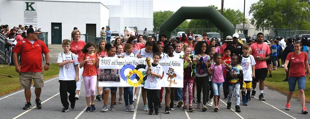 Moss Hill students take part in Special Olympics parade