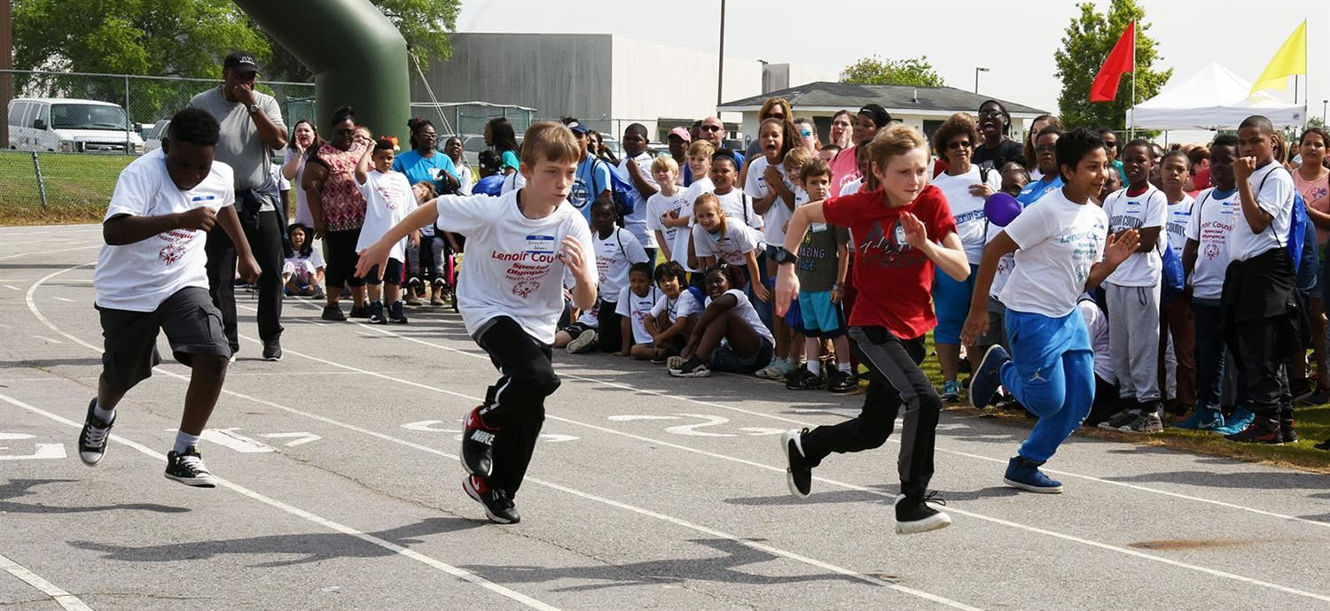 Race during special olympics