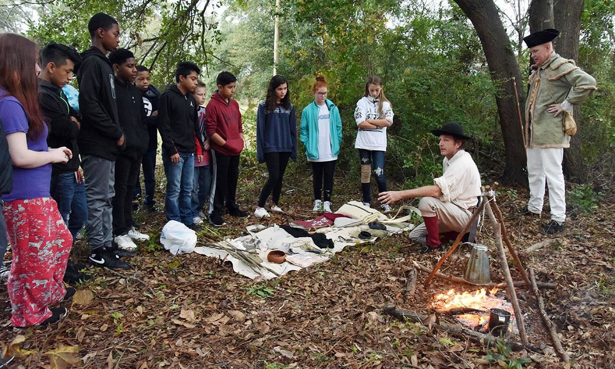 Frink students hear about Revolutionary era camp