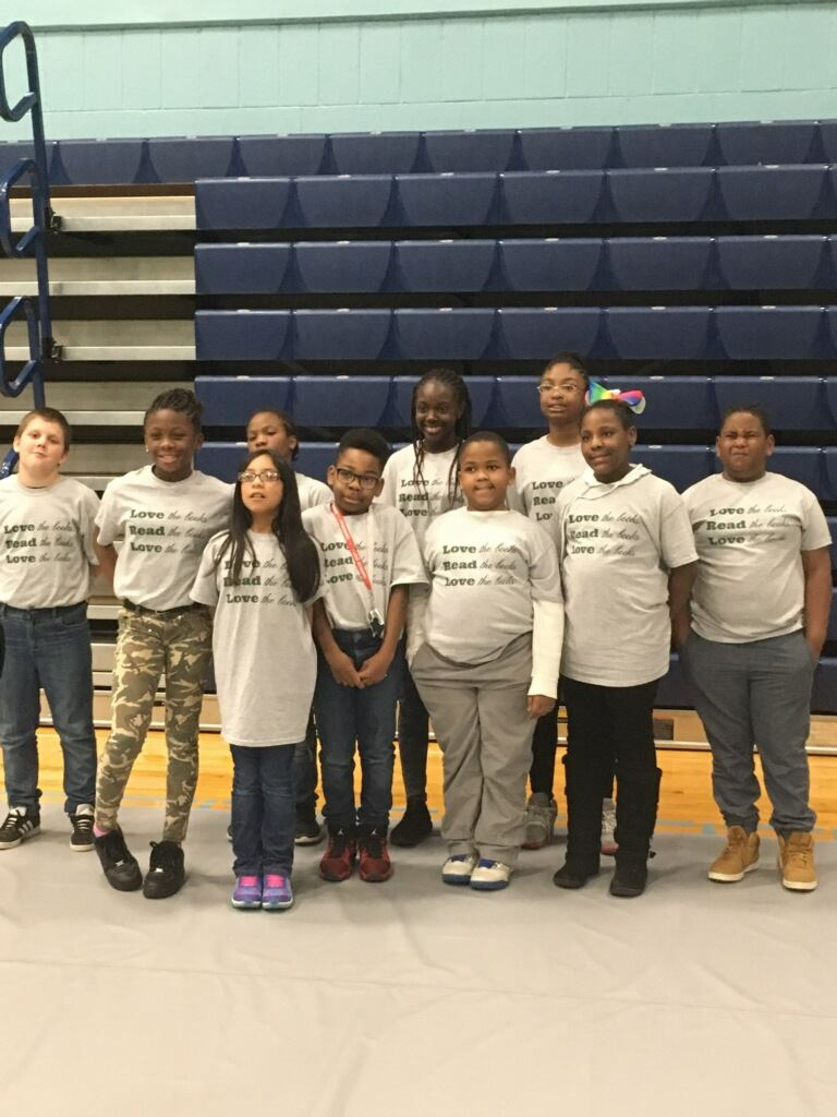 battle of the books members pose together