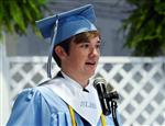 Jacob Hunter deliver commencement address at South Lenoir High.