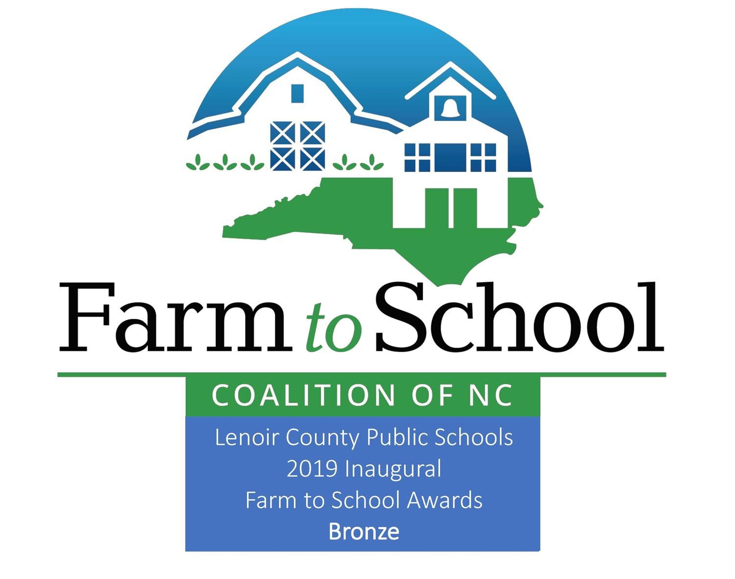 Lenoir Farm to School award logo