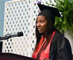 Dana Langley speaks at graduation