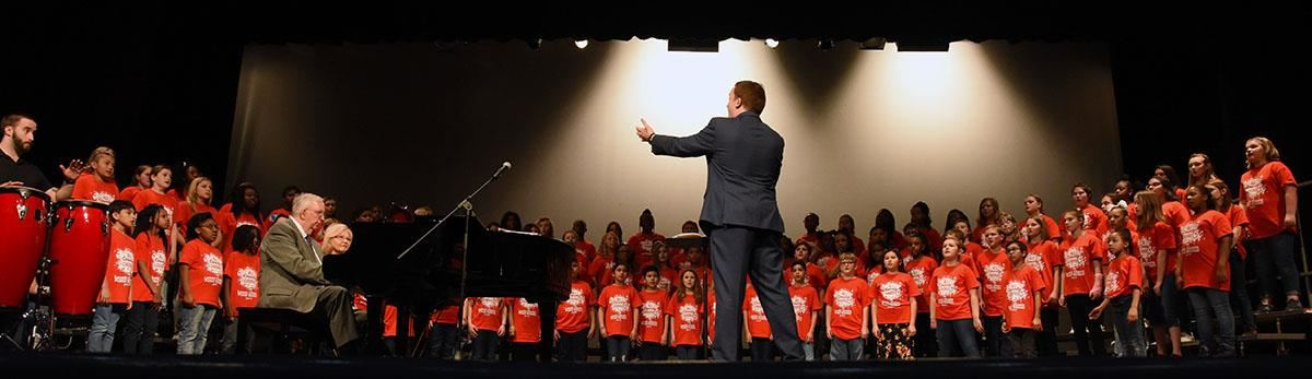 Elementary All-County Chorus performs