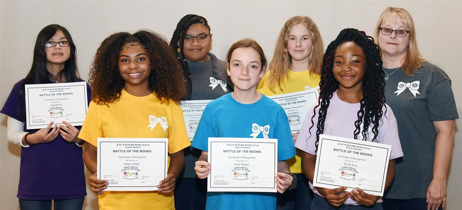 CSS Middle School Battle of the Books team