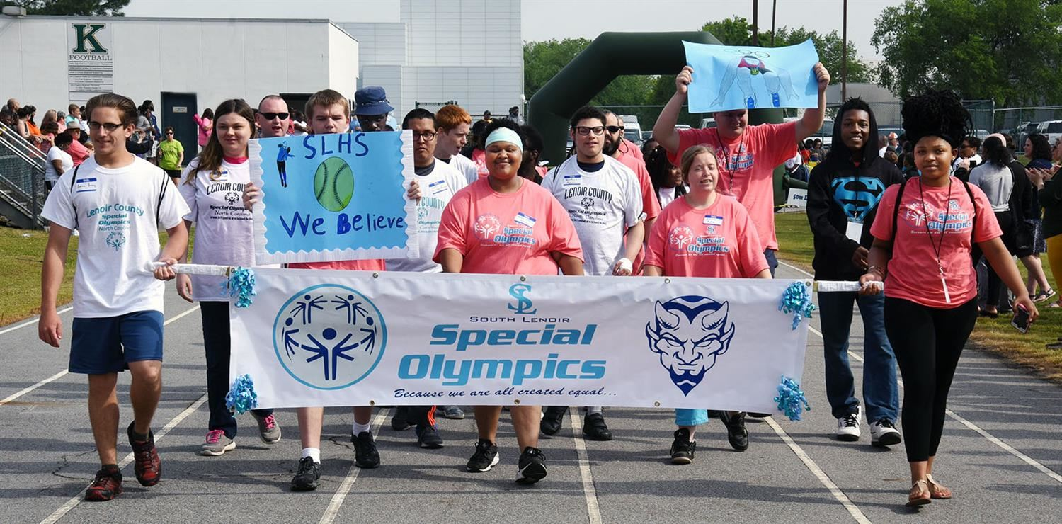 South Lenoir marches in Special Olympics parade