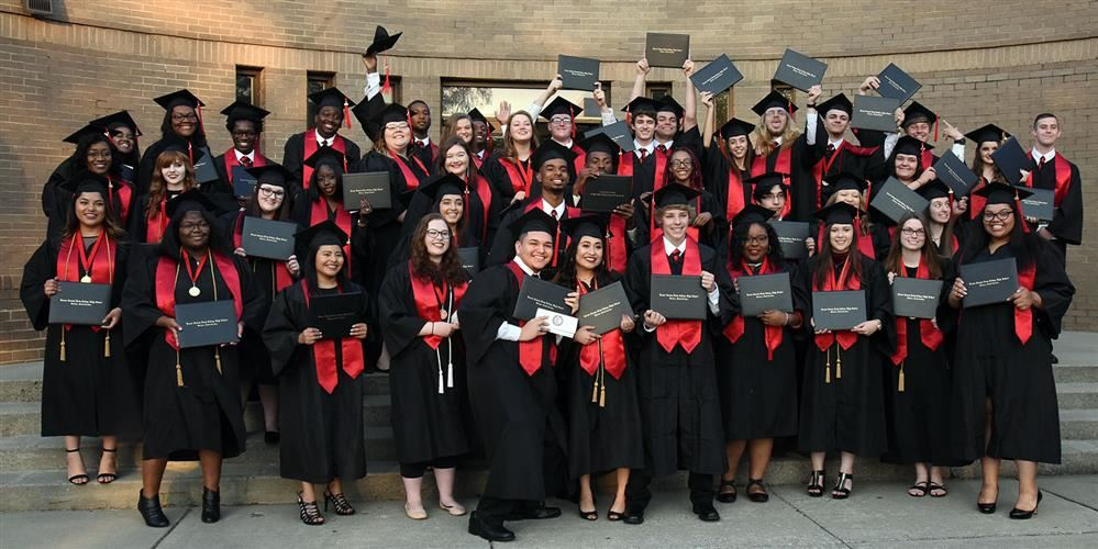 Early College Class of 2018 gathers for group photo after graduation
