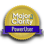 MajorClarity power user digital badge