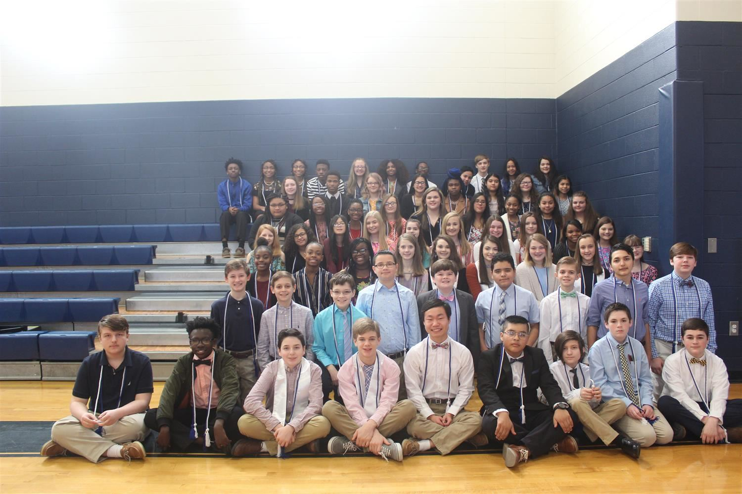 Members of the Middle Grades National Junior Honor Society