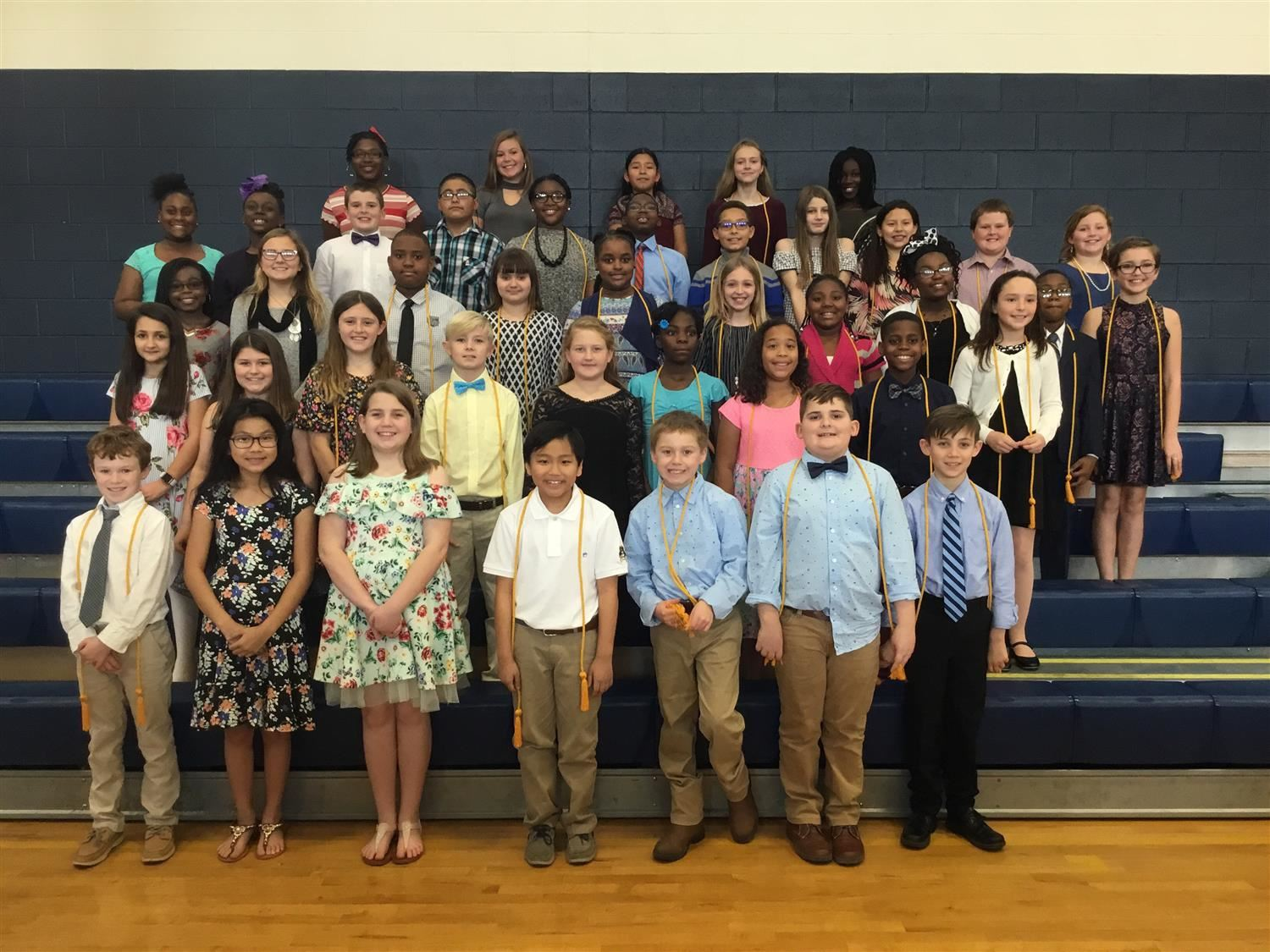 Members of the National Elementary Honor Society